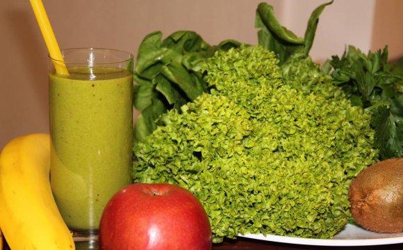 Зелёные коктейли - полезные и